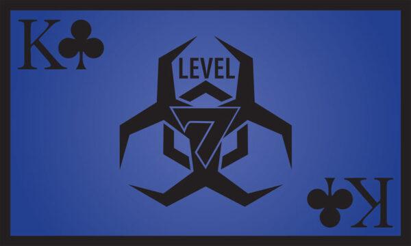 Level 7 Club Blue Flag