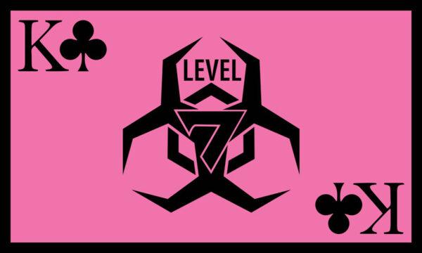 Level 7 Club Pink Flag